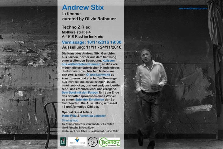 Ausstellung des Künstlers Andrew Stix am 10.November 19 Uhr im Techno-Z